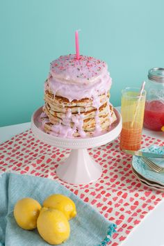 """A pancake cake. I know, I know """"but the calories, the sugar…"""",... Read more »"""