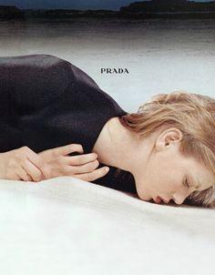angela lindvall for prada fall winter 1998/99 ad campaign