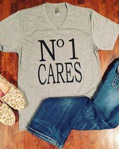 No 1 Cares tee