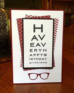 Uses My Favorite Things Eye Charts stamps and Geek is Chic dies.