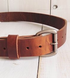 Classic Leather Belt  by Stock & Barrel on Scoutmob Shoppe. Simple, minimal, rugged, raw.