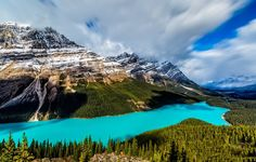 Peyto Lake First Snow (Banff, Alberta) by Perry Hoag / 500px