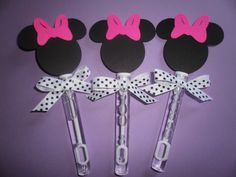 Minnie Mouse party favors, Minnie Mouse bubble wands set of 8 on Etsy, $8.00