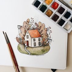 I'm an artist, illustrator living in Russia. You can purchase either my artworks… Colorful Drawings, Art Painting, Bullet Journal Art, Art Drawings Sketches, Amazing Art Painting, Card Art, Art Journal, Art Inspiration, Watercolor Illustration