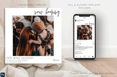 Fall Mini Session Template by Soft Hearted Days on @creativemarket Photoshop Help, Fall Mini Sessions, You Better Work, One Design, Flyer Template, Design Elements, Social Media, Graphic Design, Templates