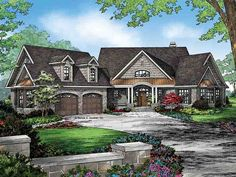 Ranch House Plan with 2950 Square Feet and 4 Bedrooms from Dream Home Source | House Plan Code DHSW077124