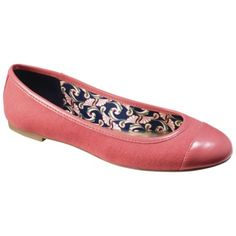 Ahh super cute every day flat | The Webster at Target® Women's Cap Toe Flat - Pink.Opens in a new window