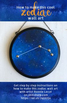 How to Paint a Zodiac Wall Hanging to Display or Give as a Gift via @bmurphylecat