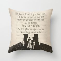 "The Nightmare Before Christmas, Throw Pillow Cover, Jack and Sally ""My dearest friend"" Quote, Jack and Sally, Decorative, Home Decor, Gift"