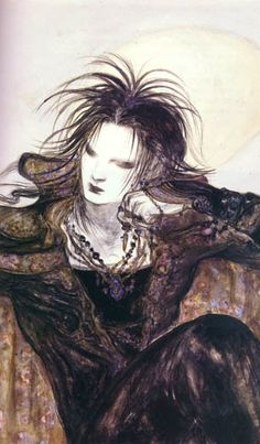 "Lord of Dreams - from ""Sandman: the Dream Hunters"" Yoshikata Amano - Contemporary Japanese artist - mangass, games, animés creator"