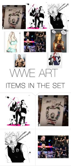 """""""WWE ART"""" by littlehipster1 ❤ liked on Polyvore featuring art"""