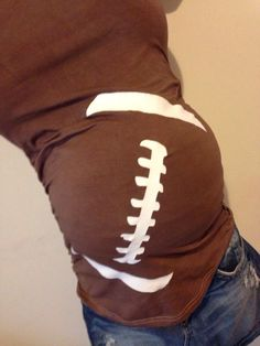 Football Maternity Shirt Valentines Maternity by BabyBellyLaughs