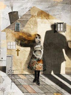 "Antonello Silverini ""Domestic violence in Catholic house"" illustration for Sojourners Magazine (2013)"