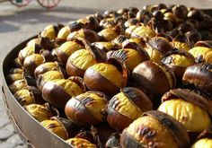 Yummy Roasted chestnuts.  Tastes of Autumn. #portugal
