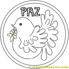 Dibuix colom de la Pau Easter Crafts, Crafts For Kids, Arts And Crafts, Peace Crafts, Preschool Themes, Pet Birds, Coloring Pages, Clip Art, Teaching