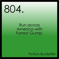 LOL! My husband calls me Forrest Gump (cause I like running.)