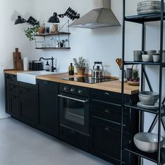 Loving this DIY rustic Ikea kitchen - and it's a great read too. Check it out over on @remodelista #kitcheninspo #kitchen #kitchendecor #diykitchen