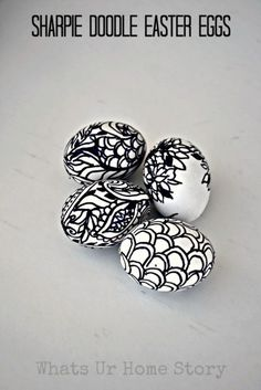 The easiest Easter eggs you will ever make! Sharpie doodle eggs