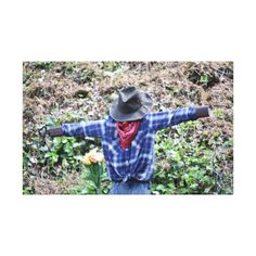 #Scarecrow Canvas Print - #halloween #party #stuff #allhalloween All Hallows' Eve All Saints' Eve #Kids & #Adaults