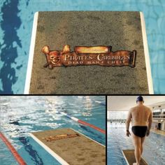 Pirates of the Caribbean Guerrilla Marketing Example - Clever sand stickers were placed on diving boards of swimming pools to promote the Pirates of the Caribbean movie.