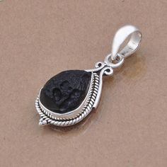 925 SOLID STERLING SILVER TECTITE DRUZY PENDANT JEWELLERY 4.91g DJER4753 #Handmade #Pendant