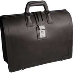 (Limited Supply) Click Image Above: Korchmar Belting Leather Brief Bag - Brown
