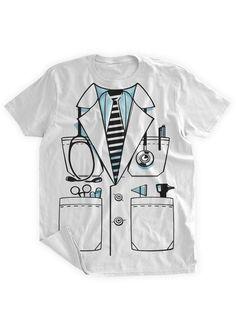 6c2f91c6e4 Camiseta doctor capa traje Por favor uso tamaño carta como esta camisa no  tiene una política