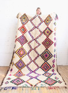 This Berber rug is handmade in Morocco using virgin wool by super- talented women. It makes such a statement that you barely need anything else to decorate!