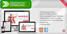 [ThemeForest]Free nulled download Independent - Responsive Magento Theme from http://zippyfile.download/f.php?id=16044 Tags: clothes, cloud zoom, css3, fancybox, fashion, grid960, html5, magento, product slider, responsive, responsive ecommerce theme, responsive slider, static blocks, svn, ui widgets