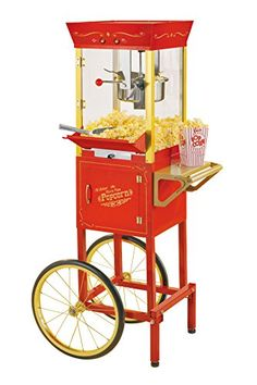 Nostalgia CCP510 53-Inch Tall Vintage Collection 6-Ounce Kettle Popcorn Cart *** Read more reviews of the product by visiting the link on the image.