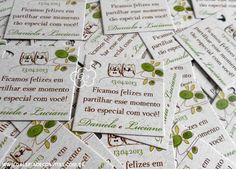Modelo 76 Ecológico: cartões de agradecimento - Galeria de Convites