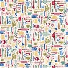 kitchen utensil fabric - Google Search