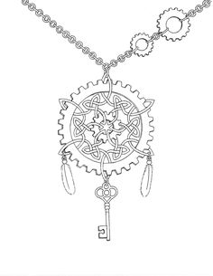 Steampunk Coloring Pages for Adults | Steampunk Celtic Knot by mynameis-jinx on deviantART