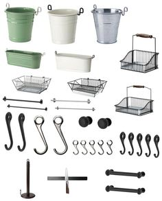 Ikea fintorp baskets and stuff for storing tea towels