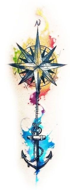 Compass tattoos are popular with both men and women, though have historically been slightly more common with the guys. Girly Tattoos, Trendy Tattoos, Flower Tattoos, Body Art Tattoos, New Tattoos, Tattoos For Guys, Cool Tattoos, Watercolor Compass Tattoo, Tatuaje Trash Polka