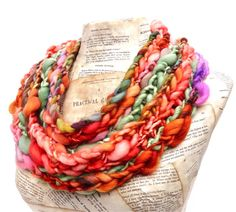 Bittersweet Scarf Autumn Orange Scarf Chunky Knit by AudreyKnitted, $99.00