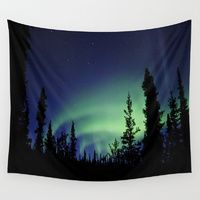 Wall Tapestries featuring Aurora Borealis by 2sweet4words Designs