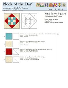Nine Patch Square block