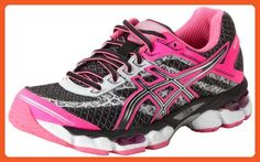 ASICS Women's GEL-Cumulus 15 Lite-Show Running Shoe,Black/Onyx/Flash Pink,5.5 M US - Athletic shoes for women (*Amazon Partner-Link)