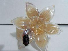 Beautiful Murano Hand Made Art Sculpture Cream 6 Petal Glass Flower Made In Italy  424.00/$9.90 Shipping