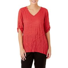 W.Lane Lifestyle Panelled Swing Tee Shirt Blouses, Shirts, Blouse Online, Tunic Tops, Lifestyle, Tees, Lady, Clothes, Women