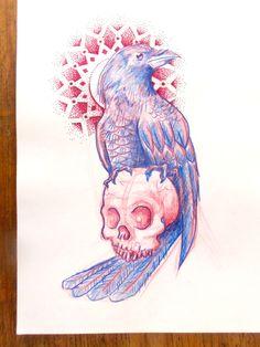 Crow sketch.El Inmigrante