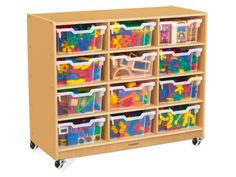Classic Birch Big Bins See-Inside Storage Unit - 12 Cubby #LakeshoreDreamClassroom