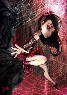 Monster High oc Ebony Widow spider webs by ~skyshek on deviantART