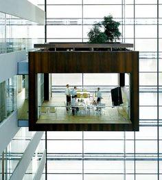 Meeting room designed by Schmidt Hammer Lassen architects for Nykredit headquarters building in Copenhagen, Denmark.