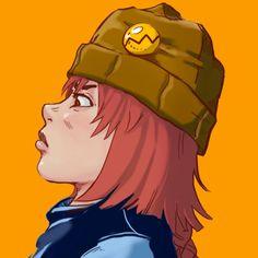 Sketch color - Estudo de um personagem - Testando cores, acho vou mudar a cor do gorro.Testing colors, i thinking in change the color of her hat. #krita #graco #rupture #study #originalcharacter #girl #sketch