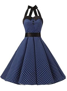 Vintage Polka Dot Retro Cocktail Prom Dresses 50's 60's with Rockabill – ZillyChic
