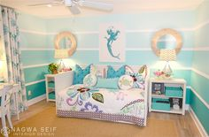 Diy mermaid decor attractive ideas mermaid bedroom decor and fabulous beach style kids design room little Mermaid Room Decor, Mermaid Bedroom, Bedroom Themes, Girls Bedroom, Bedroom Decor, Bedroom Ideas, Bedroom Beach, Wall Decor, Teenage Beach Bedroom