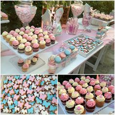 Christening Candy Bar! Cupcake Shops, Cake Pops, Christening, Tart, Bakery, Sweets, Candy, Table Decorations, Desserts