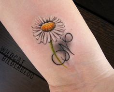 Cool Daisy Tattoo Designs for Women: Daisy Flower Tattoo Design For Women ~ lookmytattoo.com Women Tattoos Inspiration